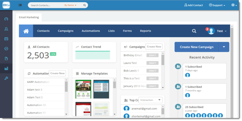 New Email Designer enhances Email Marketing with BigContacts